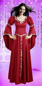Red gothic style wedding dresses