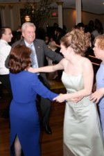 Photo of Guests dancing to a wedding song