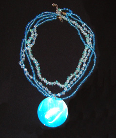 Blue Beaded Necklace for Cheap Wedding Party Gift Ideas