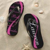 Engraved wedding gifts of flip flops