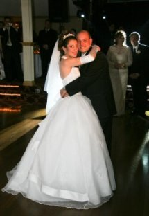 Bridal Couple dancing to the reception music