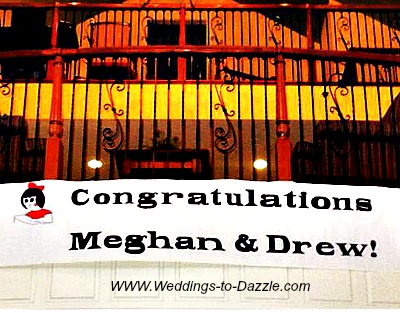 Unique Wedding Ideas Banner with Names