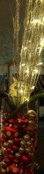 Elegant christmas decorations for a beautiful wedding