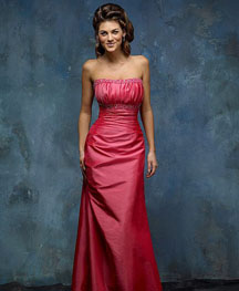 Gorgeous long pink wedding dress