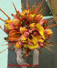 Beautiful bouquet for an autumn wedding