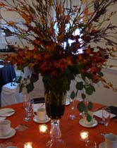 Autumn wedding flower centerpieces