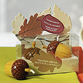 Autumn candle which makes a great wedding gift