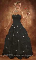 Cinderella Black Wedding Dresses