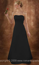 Long Black Wedding Dresses