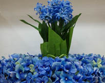 Wedding colors theme blue flowers