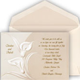 Calla Lily Wedding Invitations with stenciling