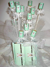 Green Candy Centerpieces