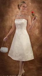 Tea Length Casual Beach Wedding Dresses