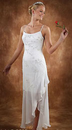 Long and Short Casual Beach Wedding Dresses
