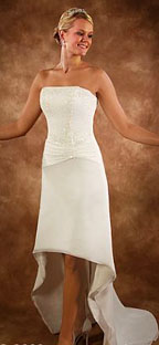 Hi-low Casual Beach Wedding Dresses
