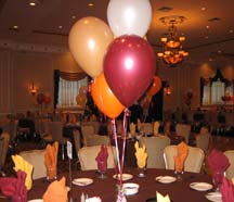 Bridal Shower Centerpiece Ideas with balloons