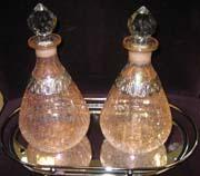 centerpieces of decorative decantors for a cheap idea