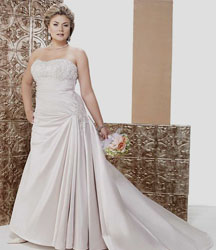 Cheap Plus Size Wedding Dresses with train