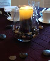 cheap wedding decoration ideas candle with rocks