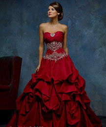 Gorgeous red Christmas wedding dresses