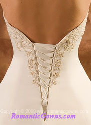 Corset wedding dresses  with elegant criss cross down the back