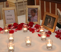 Memory table is a wonderful wedding idea