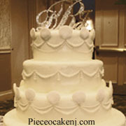 Diamond wedding theme of cake topper with rhinestones