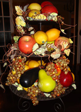 Edible centerpieces of fruit tower