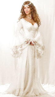 Fairy wedding dresses with long sleeves