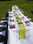 Outdoor wedding reception is a fabulous garden wedding idea