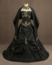 Gothic style wedding dresses of black gowns