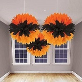Halloween wedding ideas ceiling paper decorations