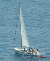 A relaxing vacation on a sail boat.