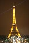 The Eiffel Tower Lit Up.
