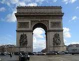 The Arch d' Triumph in Paris, France