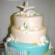 List of wedding themes wedding cake with starfish