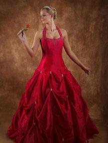 Cinderella red wedding dresses