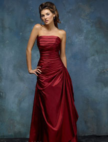 Plain red wedding dresses