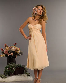 Strapless  short informal summer wedding dresses