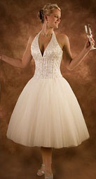 Short wedding dresses with halter top