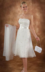 Strapless short wedding dresses