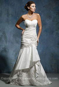 White with silver wedding dresses