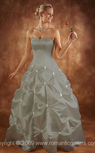 Cinderella skirt silver wedding dresses