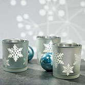 Snowflake wedding theme candle favors