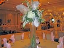 Ostrich Feather Table Centerpiece