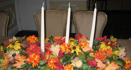 Creative Candle Centerpiece Ideas in basket with flowers