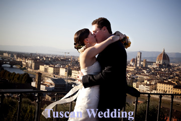Tuscan wedding overlooking Florence
