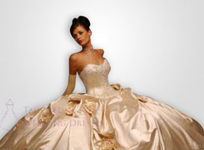 Victorian wedding dresses with wide skirt