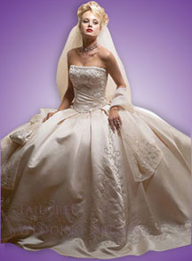 Victorian wedding dresses strapless with wide skirt