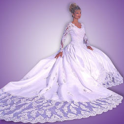 Victorian wedding dresses long bridal gown